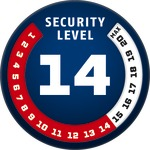 Level 14 | ABUS GLOBAL PROTECTION STANDARD ®  | Ein höherer Level entspricht mehr Sicherheit